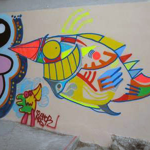 Wall with Pez & Xupet Negre
