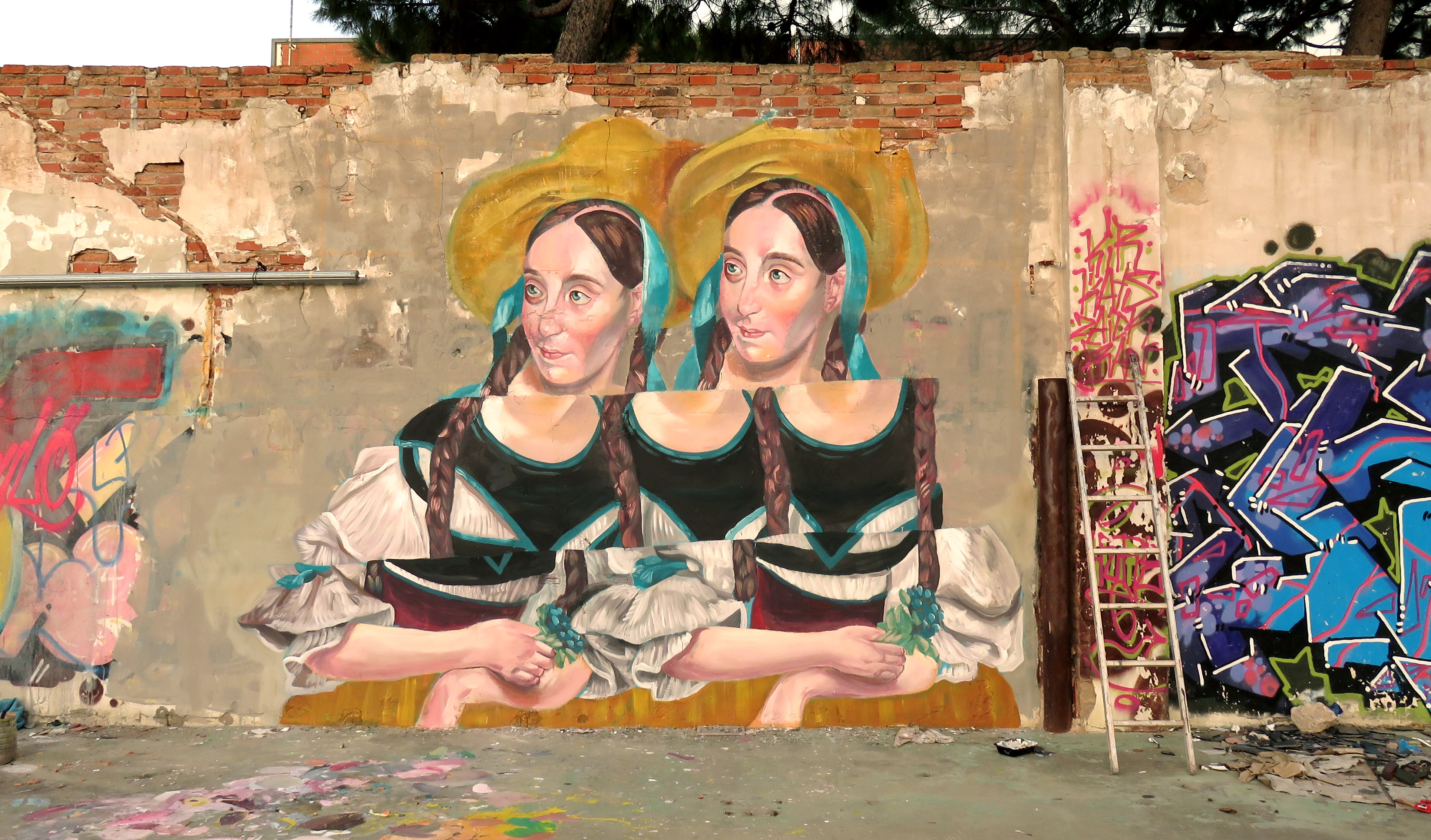 Bicefla Carla wall painted in Hospitalet
