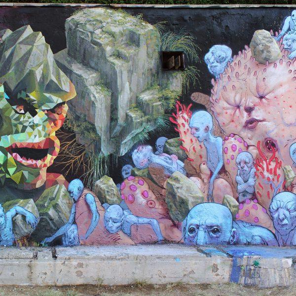 Mural with Cinta & Enric