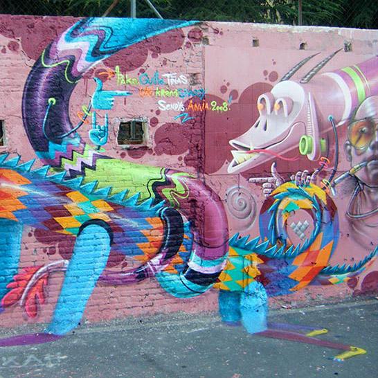 Wall with Shaggy & Kram
