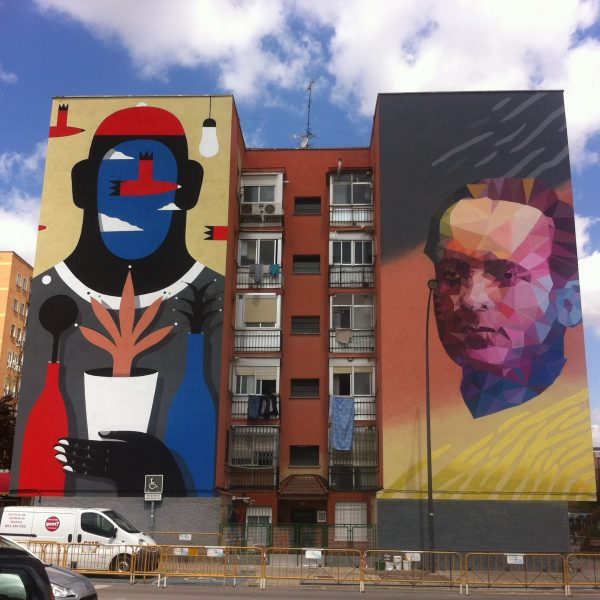 Mural on Building in Getafe