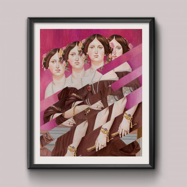 Portrait of Madame Moitessier – print